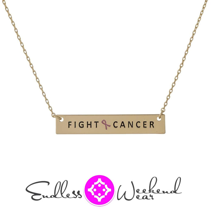 Breast Cancer Awareness Fight Cancer - Necklace
