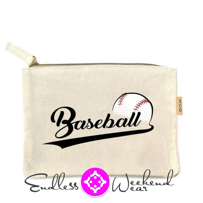 Canvas Pouch- Baseball - Accessories
