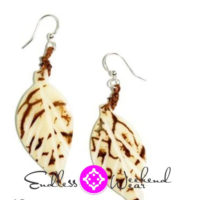 Napo Ivory With Brown Earrings - Earrings