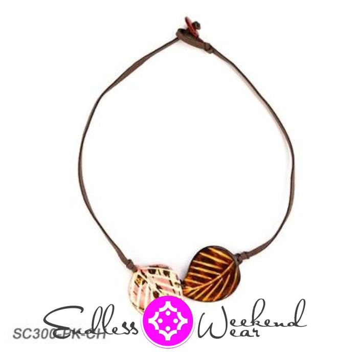 Napo Necklace - Pink & Chestnut - Necklace