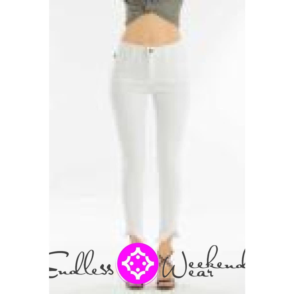 White Stretchy KanCan Jeans - Bottoms