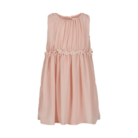 Creamie Robes 3Y / Rose Robe rose en mousseline Pink chiffon dress