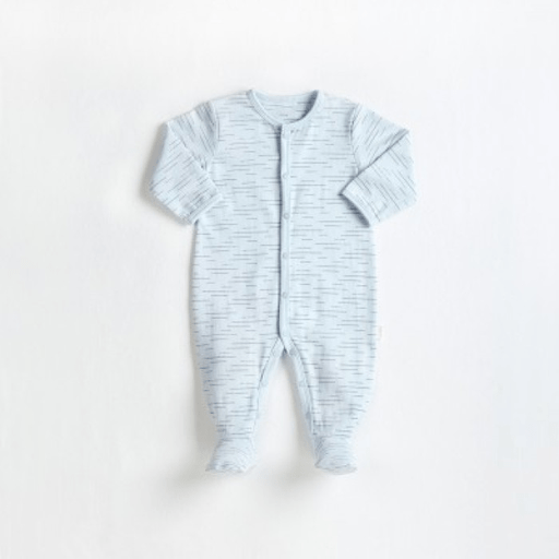 Petit Lem Pyjamas 9M / Bleu Pyjama cotton organique Baby sleeper knit