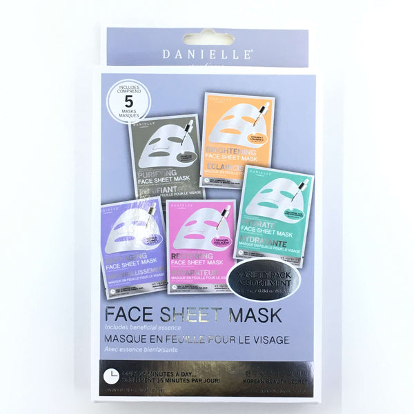 DANIELLE FACE SHEET MASK VARIETY PACK, HEALTH AND BEAUTY, Styles For Home Garden & Living, Styles For Home Garden and Living