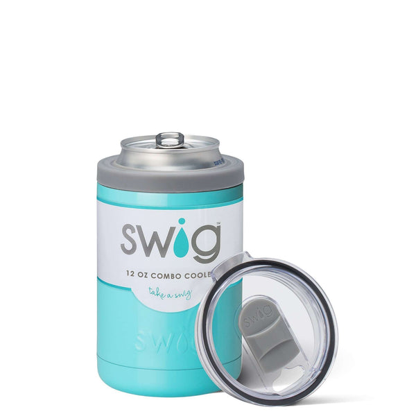 SWIG 12OZ COMBO COOLER TURQUOISE, KITCHEN, Styles For Home Garden & Living, Styles For Home Garden and Living