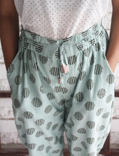 GREEN BIG POLKA PANTS