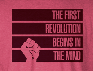 The First Revolution Begins in the Mind Long Sleeved T-Shirt - STRIPES