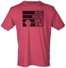 The First Revolution Begins in the Mind T-Shirt - STRIPES