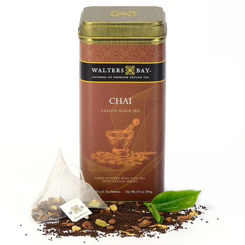 Chai Ceylon Black Tea Full Leaf Tea Bags in Canister - Walters Bay