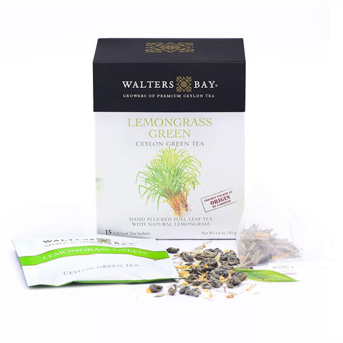 Lemongrass Green Ceylon Green Tea Full Leaf Tea Enveloped Tea Bags - Walters Bay