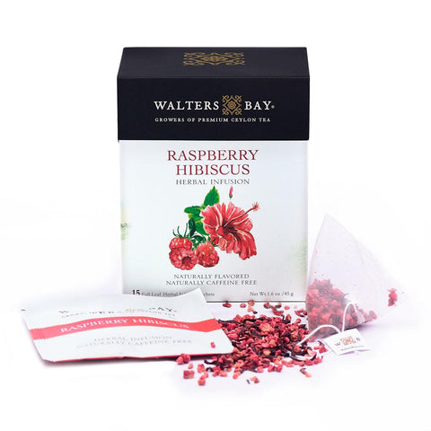 Raspberry Hibiscus Herbal Infusion Full Leaf Tea Enveloped Tea Bags - Walters Bay