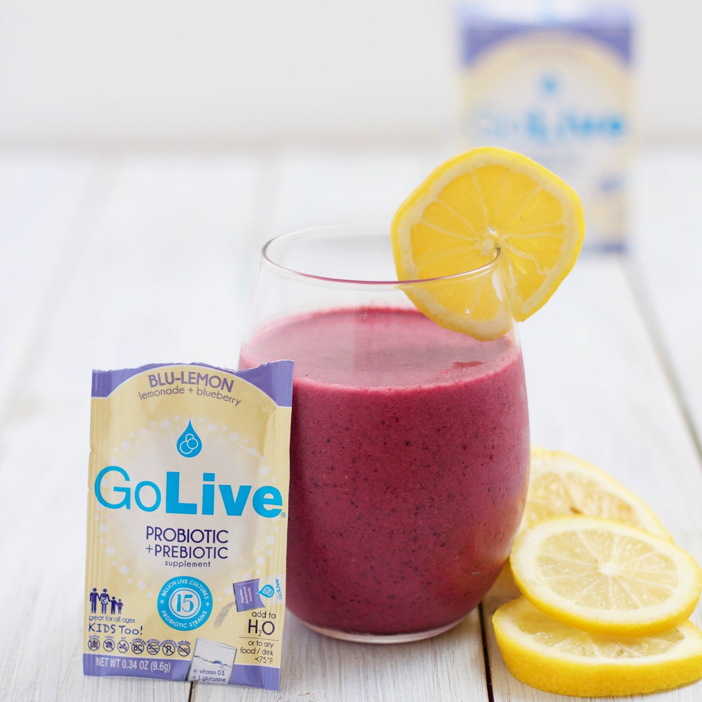Boo-Berry Probiotic Smoothie