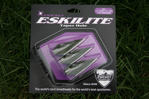 Zwickey Eskilite 4 Blade, Glue On Broadheads 5/16