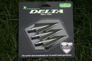"Zwickey Delta Screw In Broadheads 11/32"", 170 grains, 3 pack"