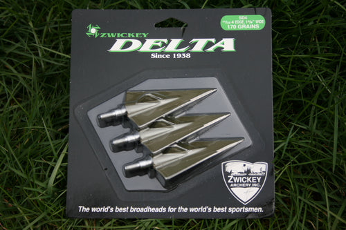 Zwickey Delta, 4 Blade, Screw In Broadheads 11/32