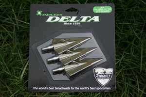 "Zwickey Delta, 4 Blade, Screw In Broadheads 11/32"", 170 grains, 3 pack"