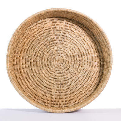 Natural coloured, hand made woven tray