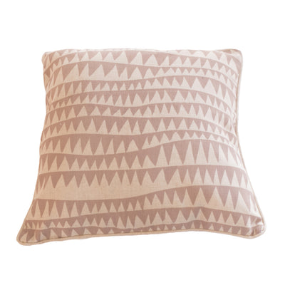 Zigzag cushion cover in dove and linen