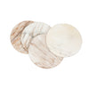 White or ivory coloured Ankole cow horn coasters with streaks of light brown