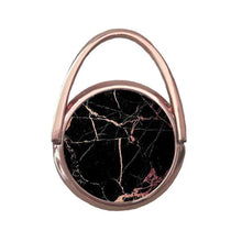 Black Marble with Sparkly Rose Gold | Mobile Phone Ring | TheImprint Singapore