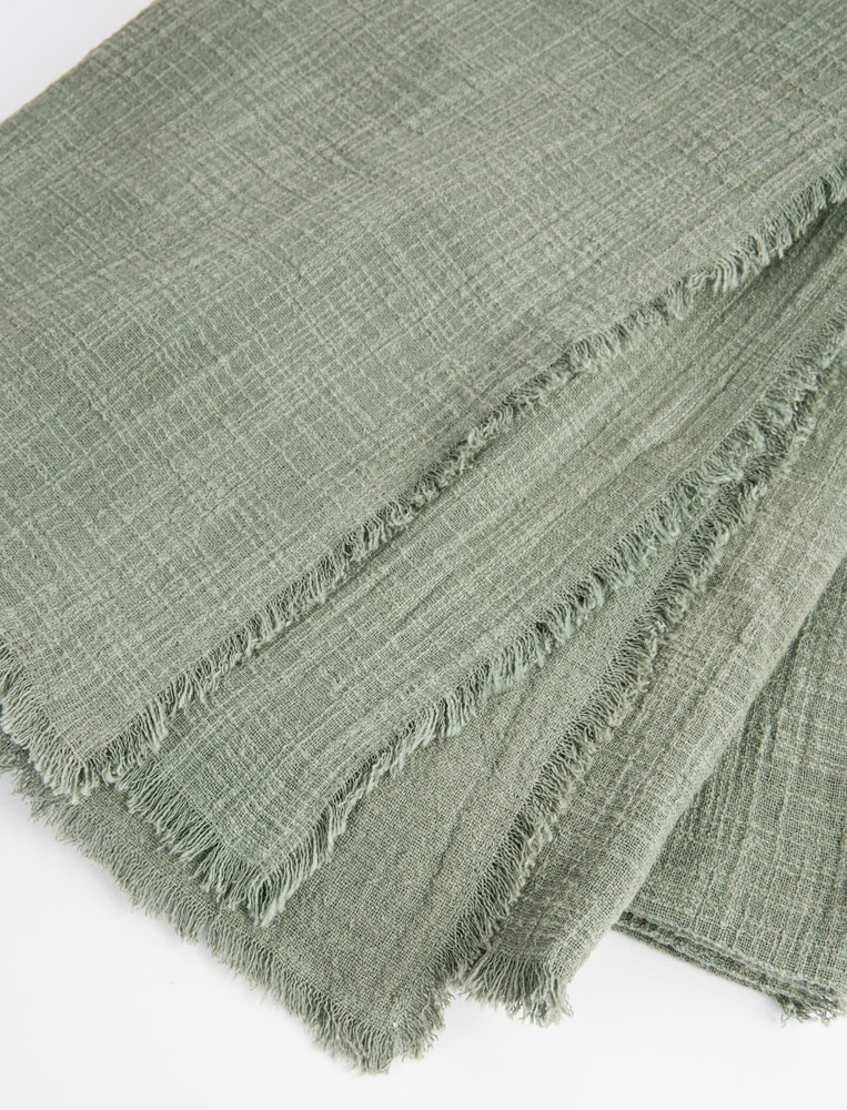 Plant-Dyed Throw - Sage
