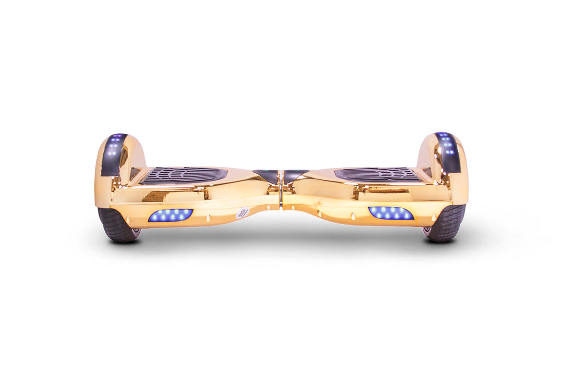 Hoverboard, Chrome Gold w/ Bluetooth - LBW-04A-CG - Charged Riders