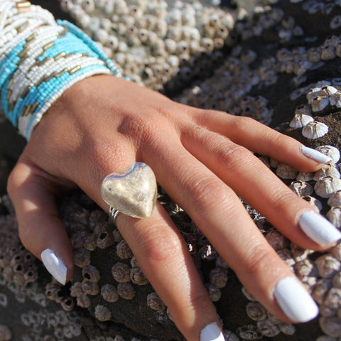 Medium Round Glass Ring filled with your choice of sand