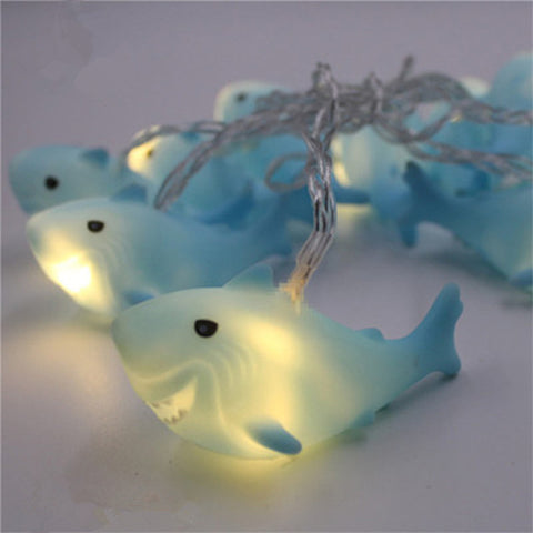 10 LED 1.8M Christmas Decoration LED Shark Shape