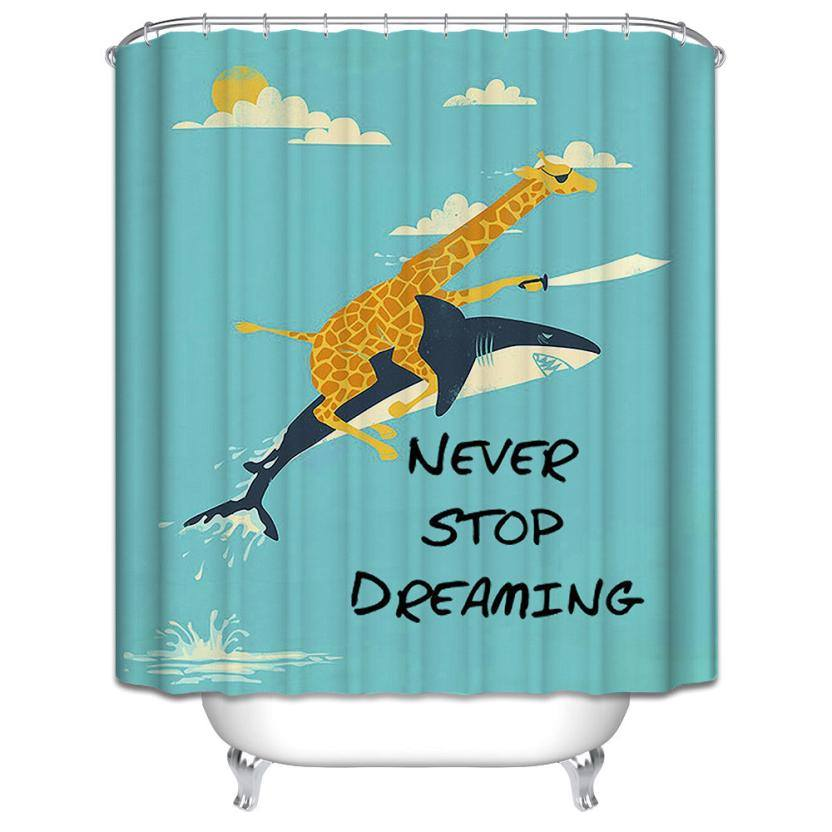 SHARKS SHOWER CURTAIN FOR BATHROOM