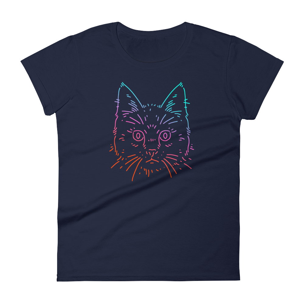 Color Cat - Round Neck T-Shirt - TheSixtyNine