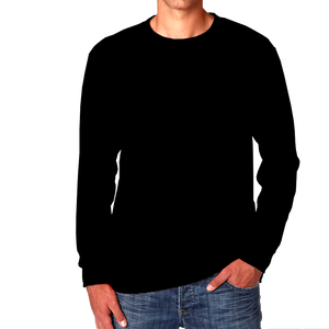Black- Plain Full Sleeves T-Shirt - TheSixtyNine