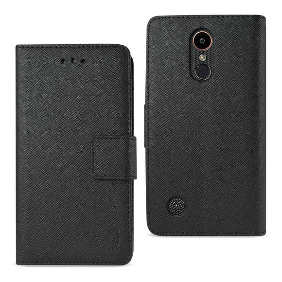 Reiko Reiko Lg K20 V- K20 Plus 3-In-1 Wallet Case In Black