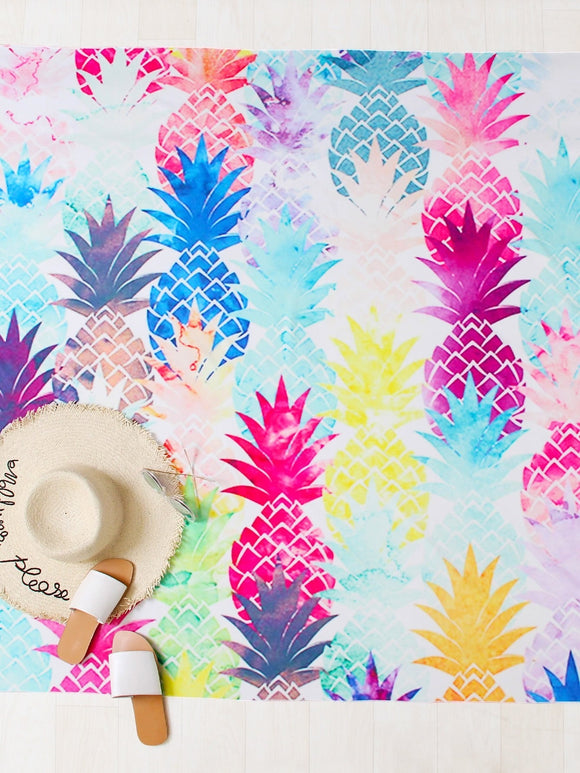 Pineapple Print Beach Roundie