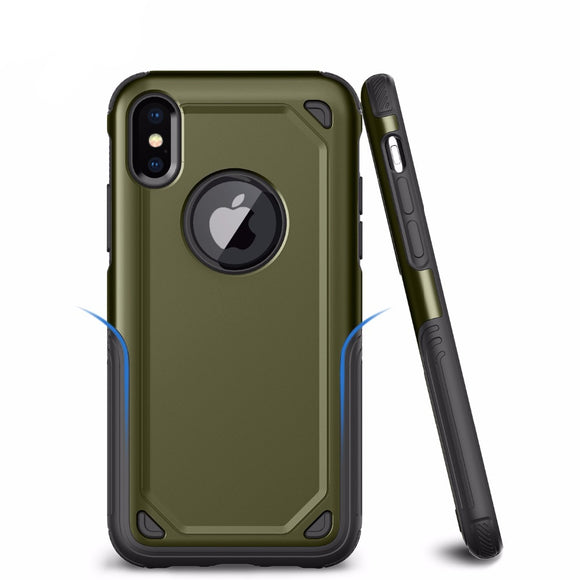 For Apple iPhone 6s 8 7 6 Plus X PC + Silicone TPU Military Anti Shock Camouflage Armor Case For iPhone X XR XS Max Defend Cover