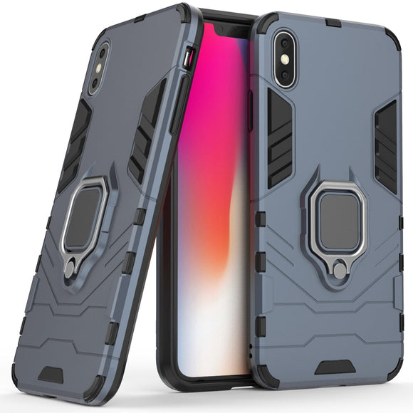 2 In 1 Magnetic Ring Armor Case For iPhone XS Max Shockproof Protective Back Kickstand Cover For Apple iPhone XS Max 6.5 Inches