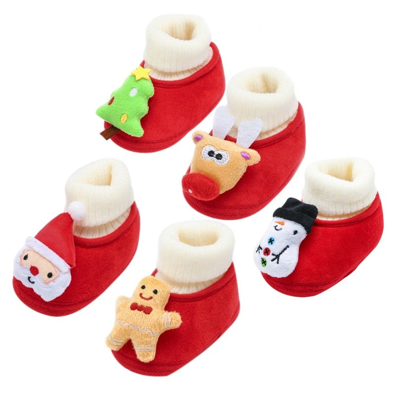 Baby Toddler Shoes Christmas Fluffy Cotton