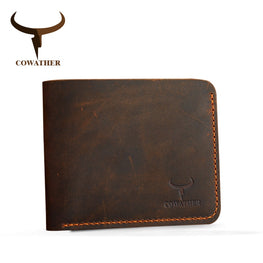 Crazy horse men wallets Vintage genuine leather cowboy