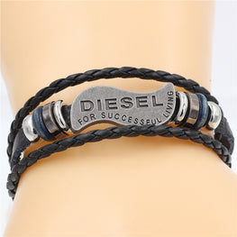 Multilayer Bracelet Men Casual Fashion Braided Leather