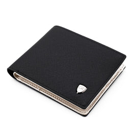 Men Wallets Fashion Solid Color Cross Pattern Open Multi Card Position
