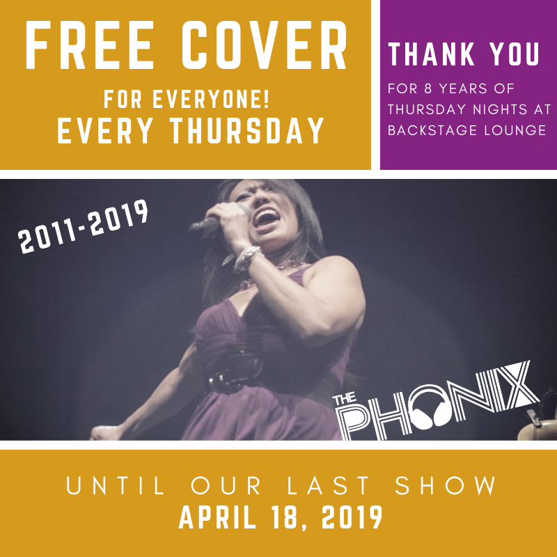 Phonix Thursdays at Backstage Lounge (Ending April 18)