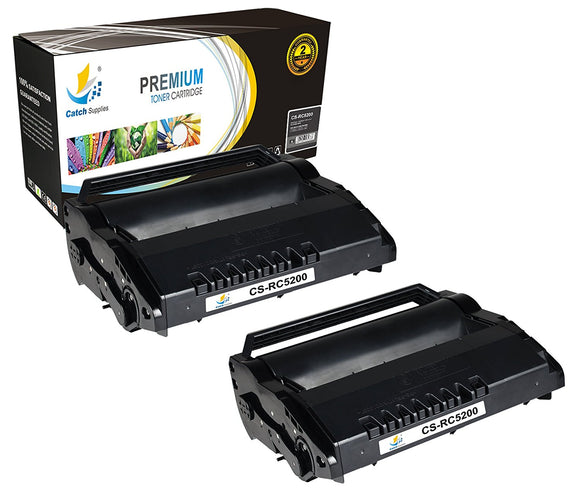 Catch Supplies Replacement Ricoh 406683 Standard Yield Black Toner Cartridge Laser Printer Toner Cartridges - Two Pack