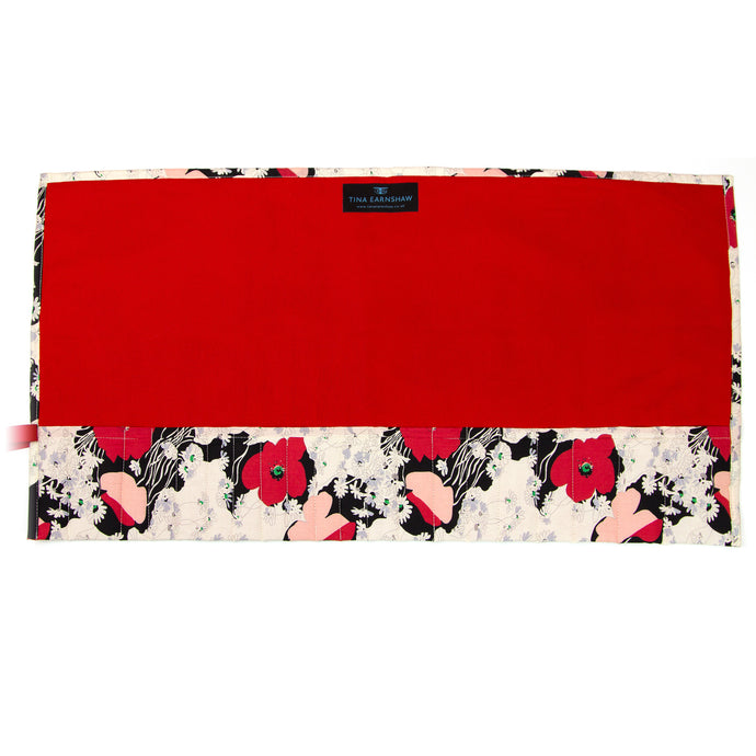 Japanese Poppy - Large Brush Wrap (21 Pockets)