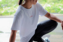 White Embroidery Logo Tee