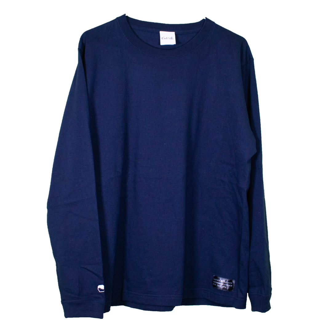 Cotton Long Sleeve T-Shirt Navy