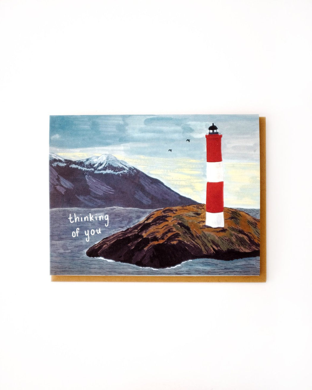 """Thinking of You Lighthouse"" Greeting Card"