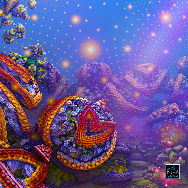 The Gates of Atlantis Cosmic Tapestry | Wall Hanging | Psychedelic| Sacred Geometry| Ayahuasca| Earth | Visionary | Psy | Art