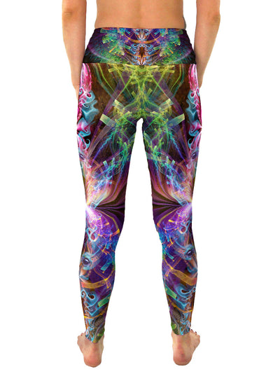 I See You | Leggings | Pants | Yoga | Workout | Gym | Festival | Rave | Outfit | Clothing | High Waisted | Fold Over | Aesthetic | Psychedelic