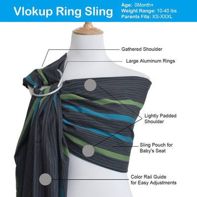 Vlokup Baby Ring Sling Color Wave