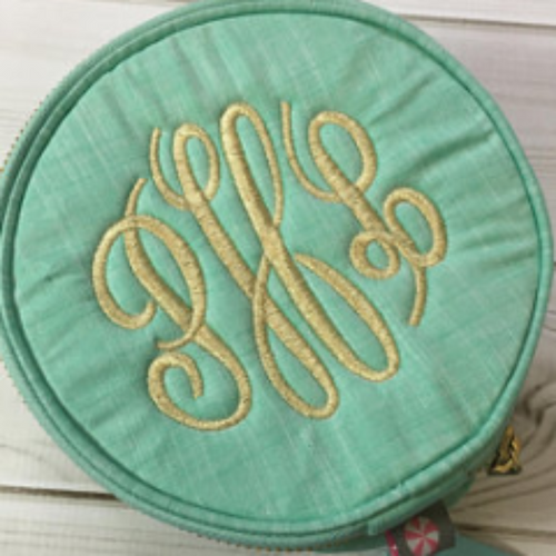 Mint (Sweet Little Things) Button Bags ~ Monogrammed Jewelry Case - Blush & Company Designs