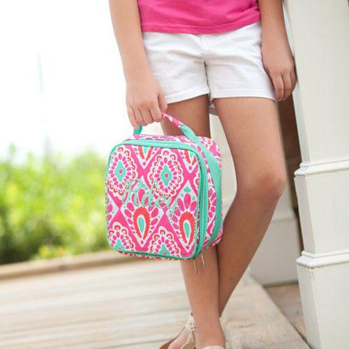 Monogrammed Lunch Box ~ Beachy Keen Lunch box ~ Custom Girls lunch box - Blush & Company Designs